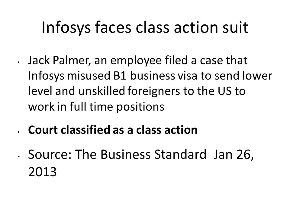 Infosys faces class action suit