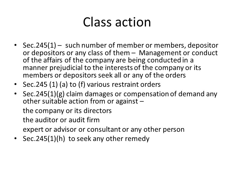 Class action