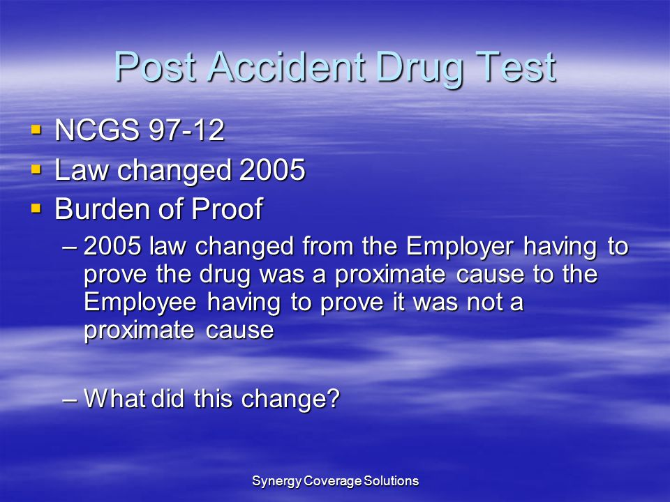 Post Accident Drug Test