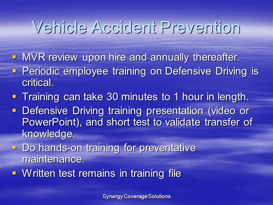 Vehicle Accident Prevention