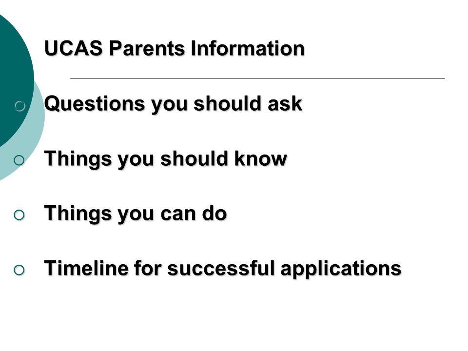 UCAS Parents Information