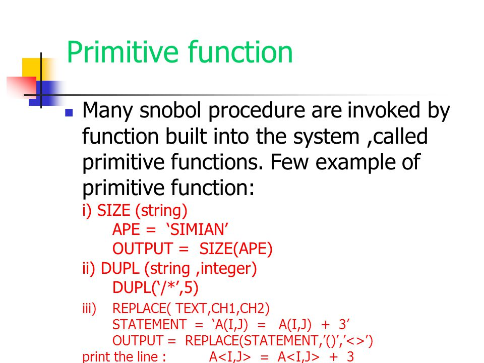 Primitive function