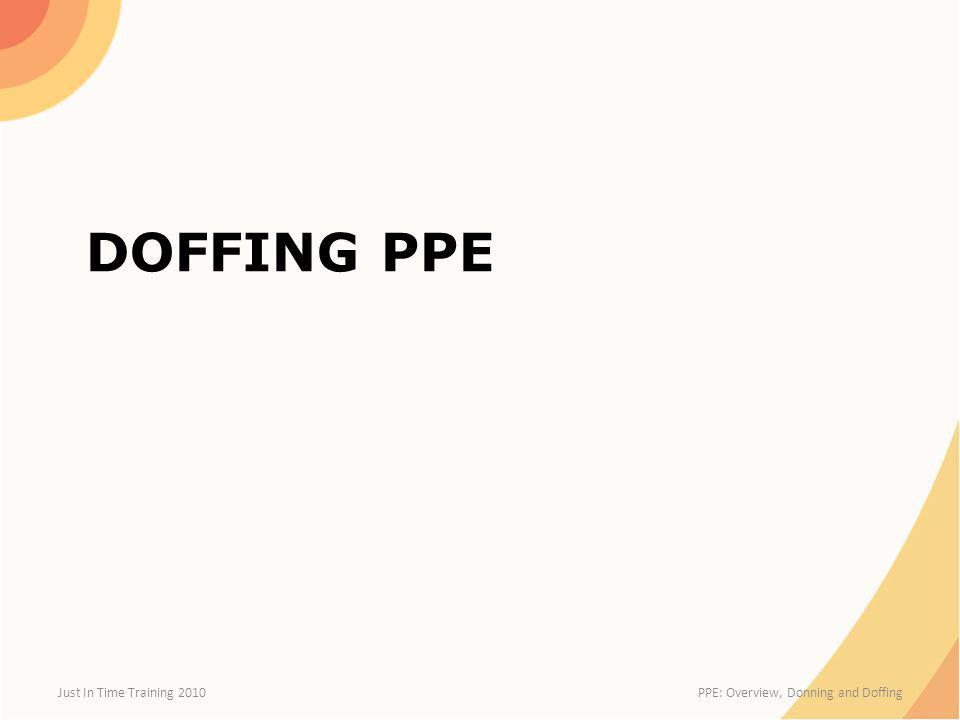 DoFFing PPE