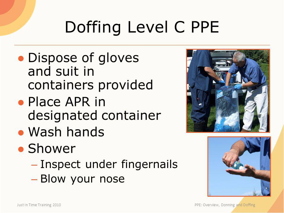 PPE: Overview, Donning and Doffing