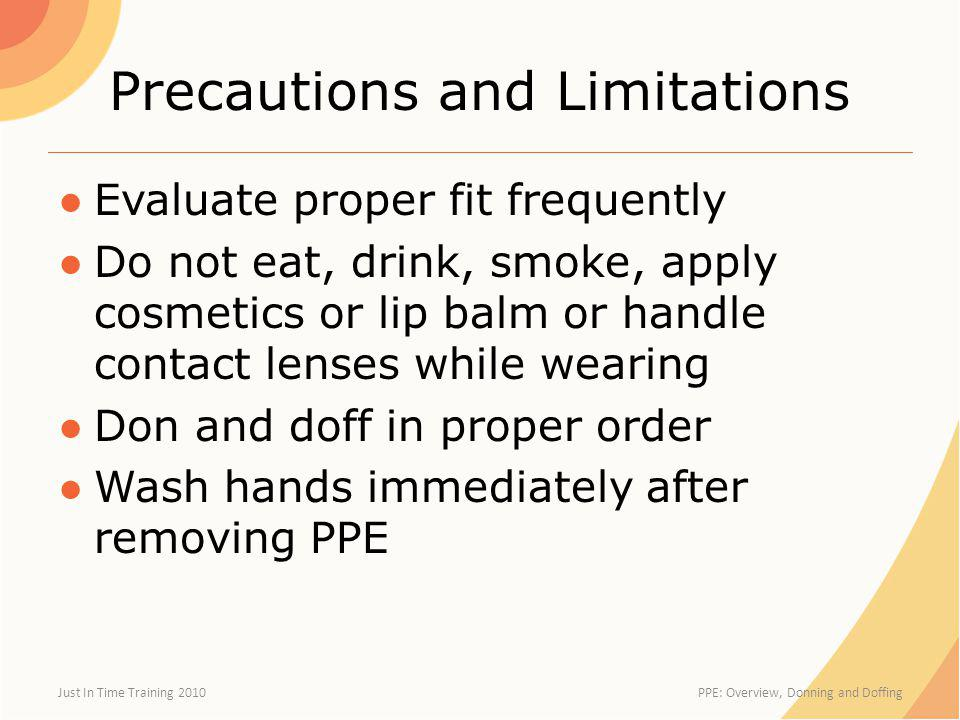 Precautions and Limitations