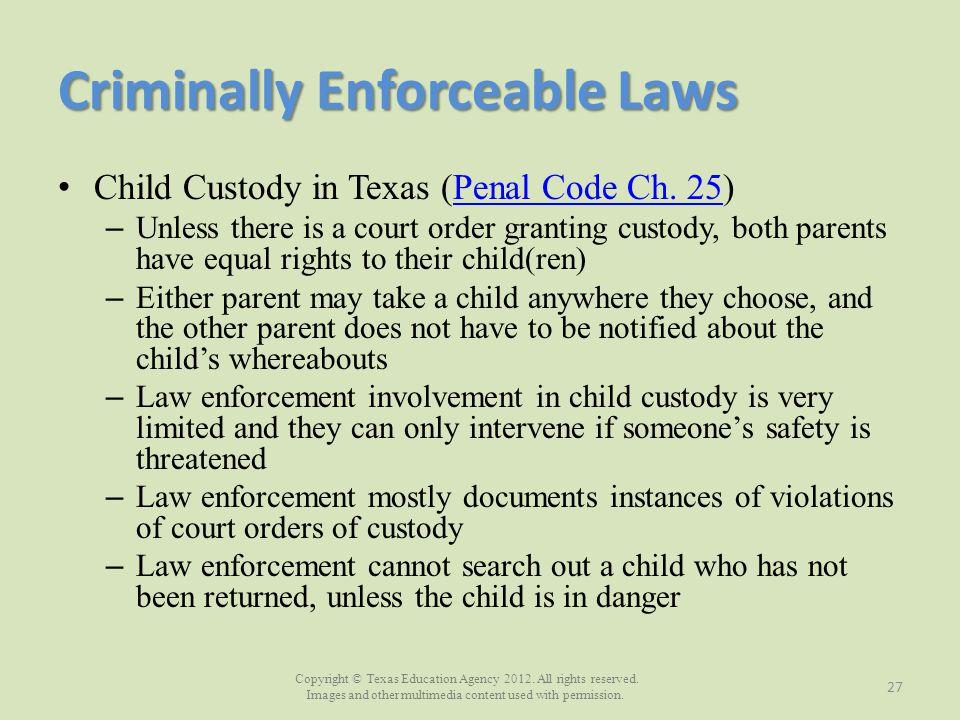 Criminally Enforceable Laws