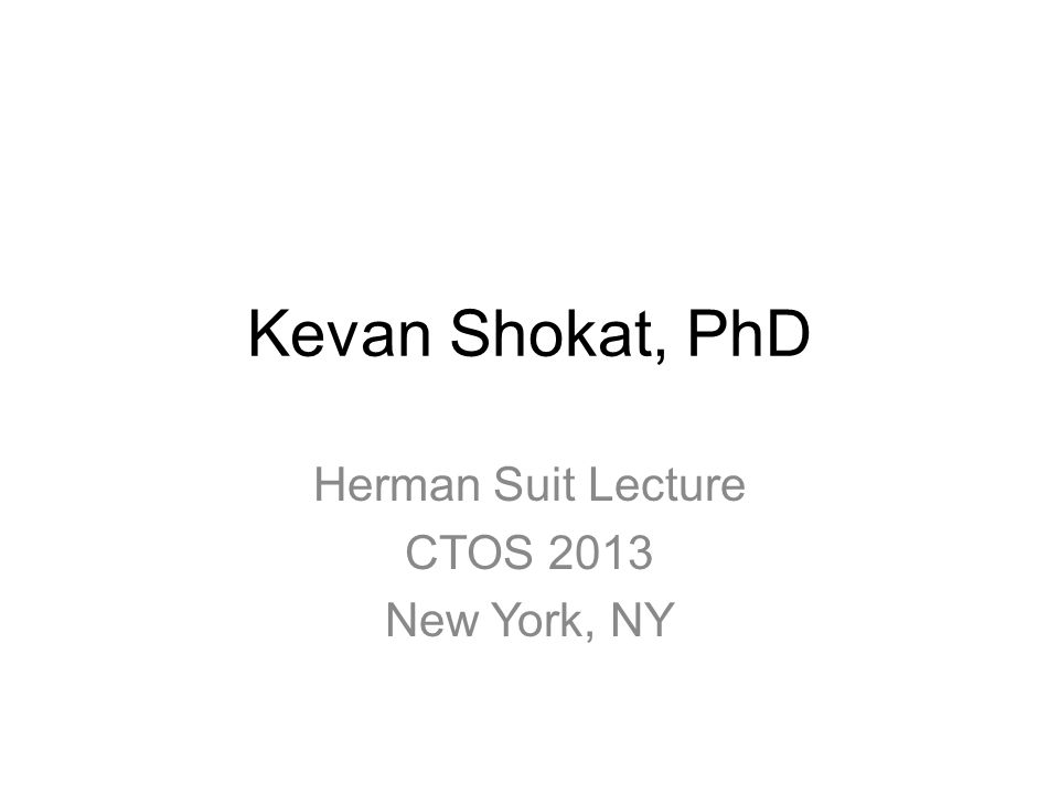 Herman Suit Lecture CTOS 2013 New York, NY