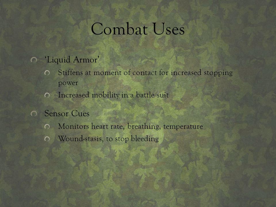 Combat Uses 'Liquid Armor' Sensor Cues