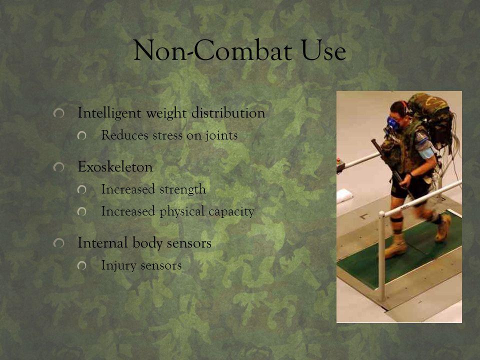 Non-Combat Use Intelligent weight distribution Exoskeleton