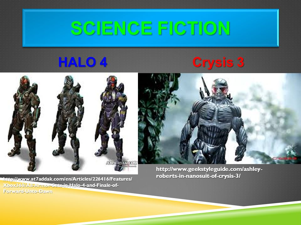 Science Fiction HALO 4 Crysis 3