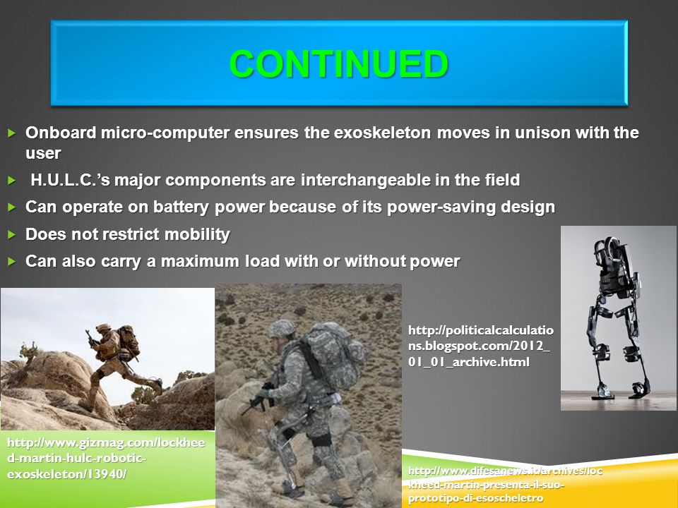Continued Onboard micro-computer ensures the exoskeleton moves in unison with the user.