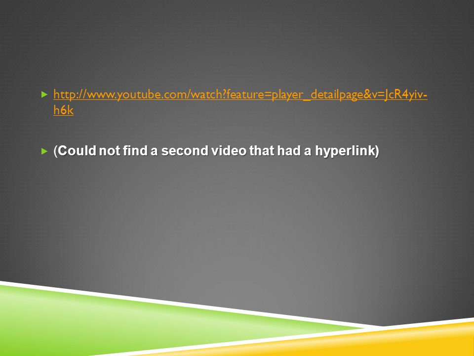http://www.youtube.com/watch feature=player_detailpage&v=JcR4yiv- h6k
