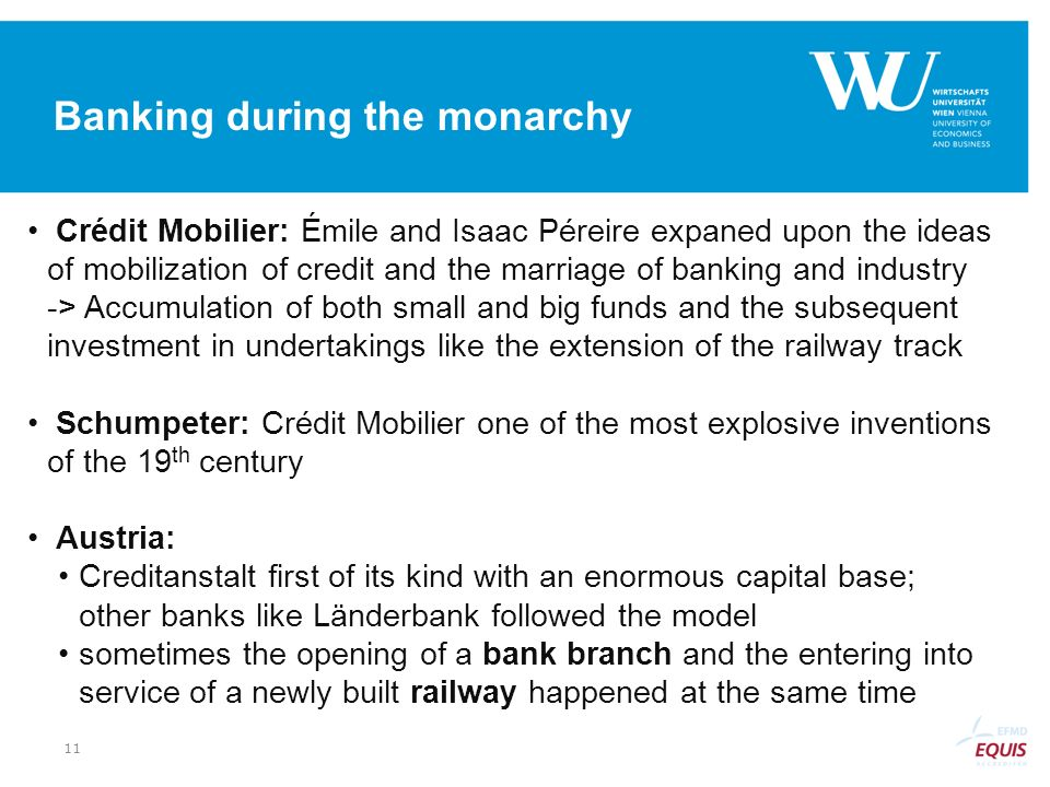 Banking during the monarchy