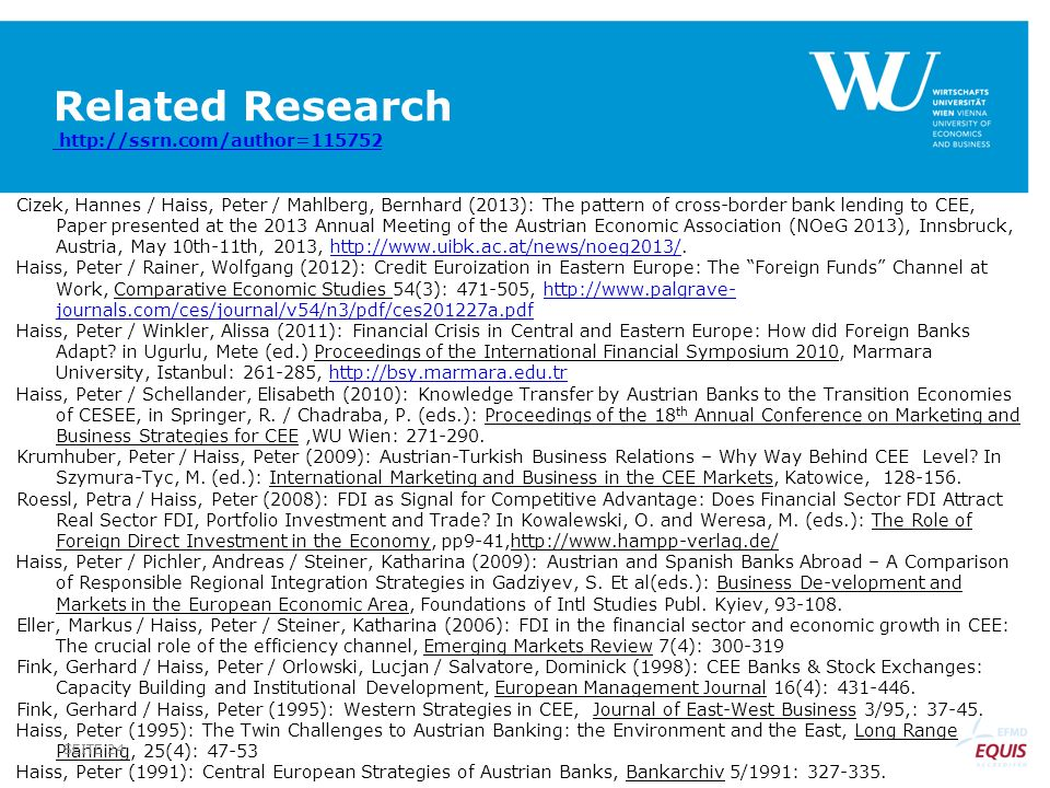 Related Research http://ssrn.com/author=115752