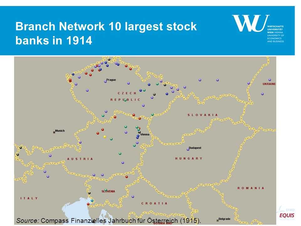 Branch Network 10 largest stock banks in 1914