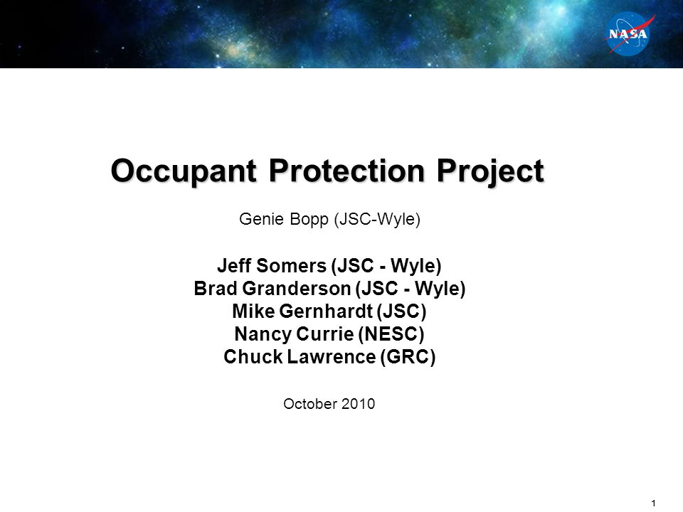 Occupant Protection Project