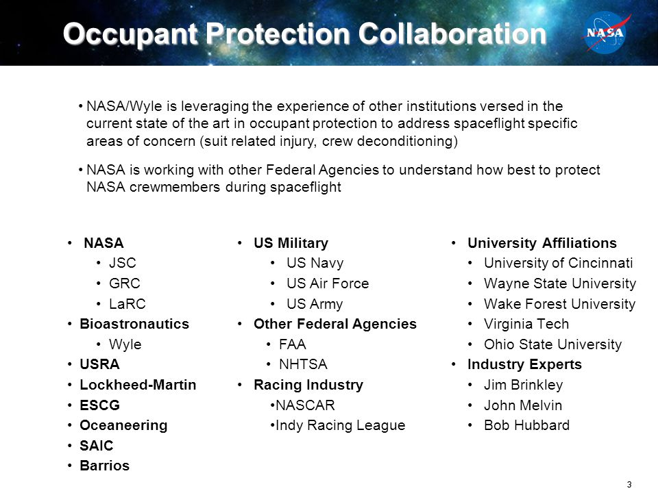 Occupant Protection Collaboration