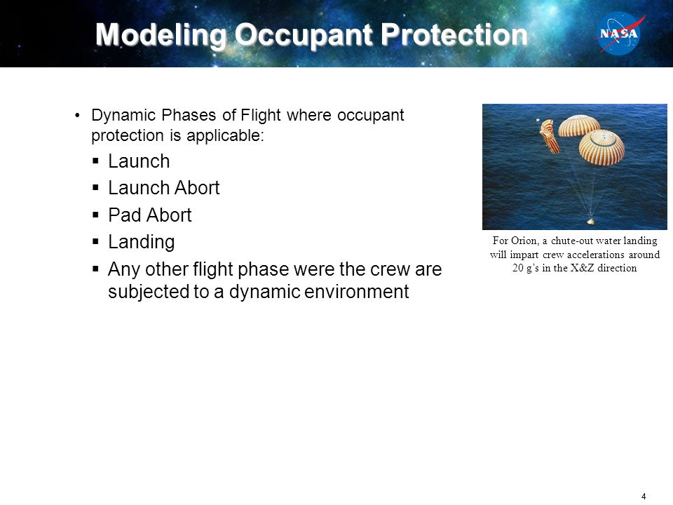 Modeling Occupant Protection
