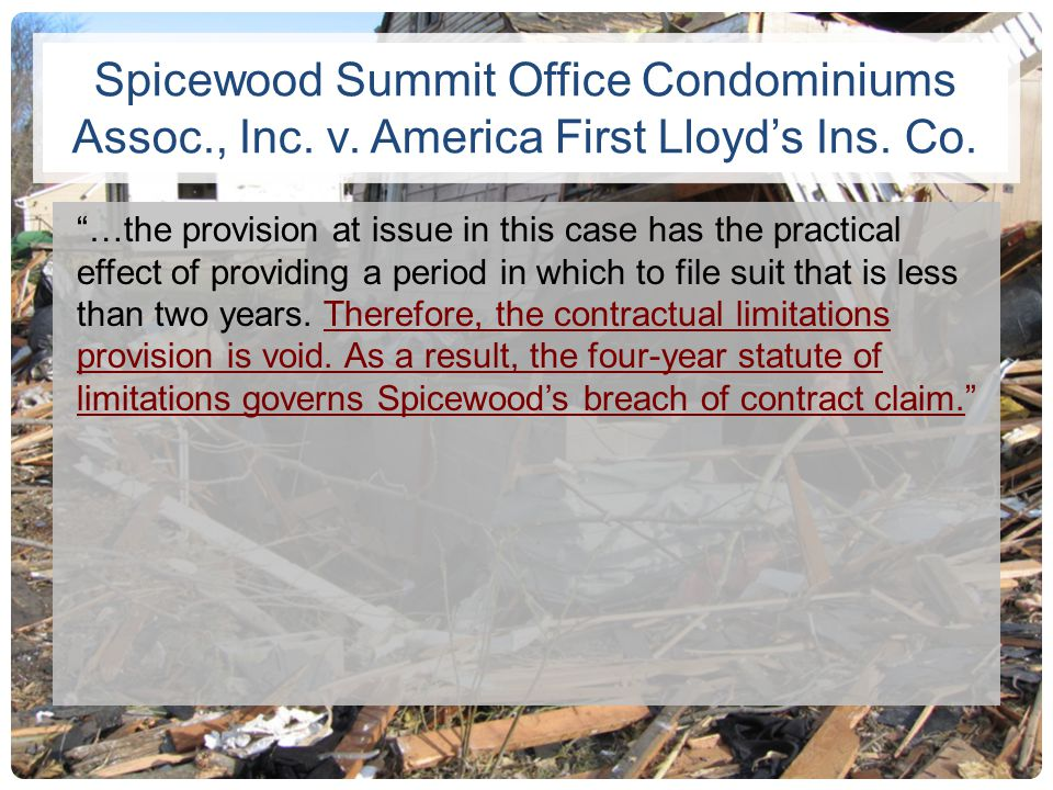 Spicewood Summit Office Condominiums Assoc. , Inc. v