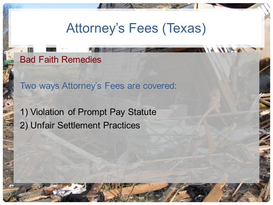 Attorney's Fees (Texas)