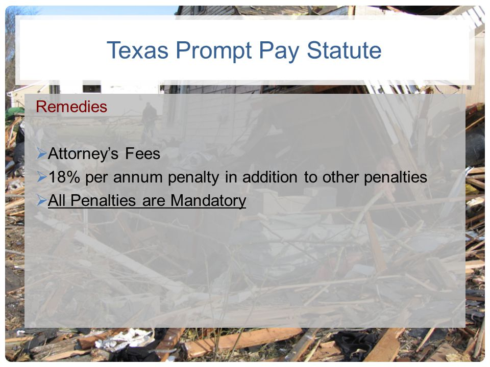 Texas Prompt Pay Statute