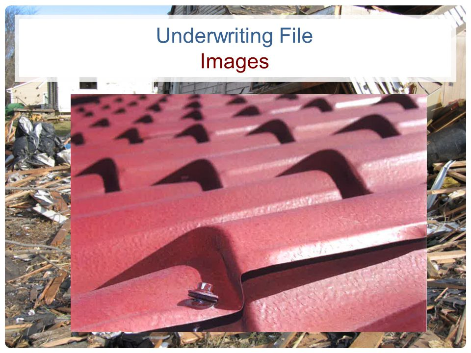 Underwriting File Images