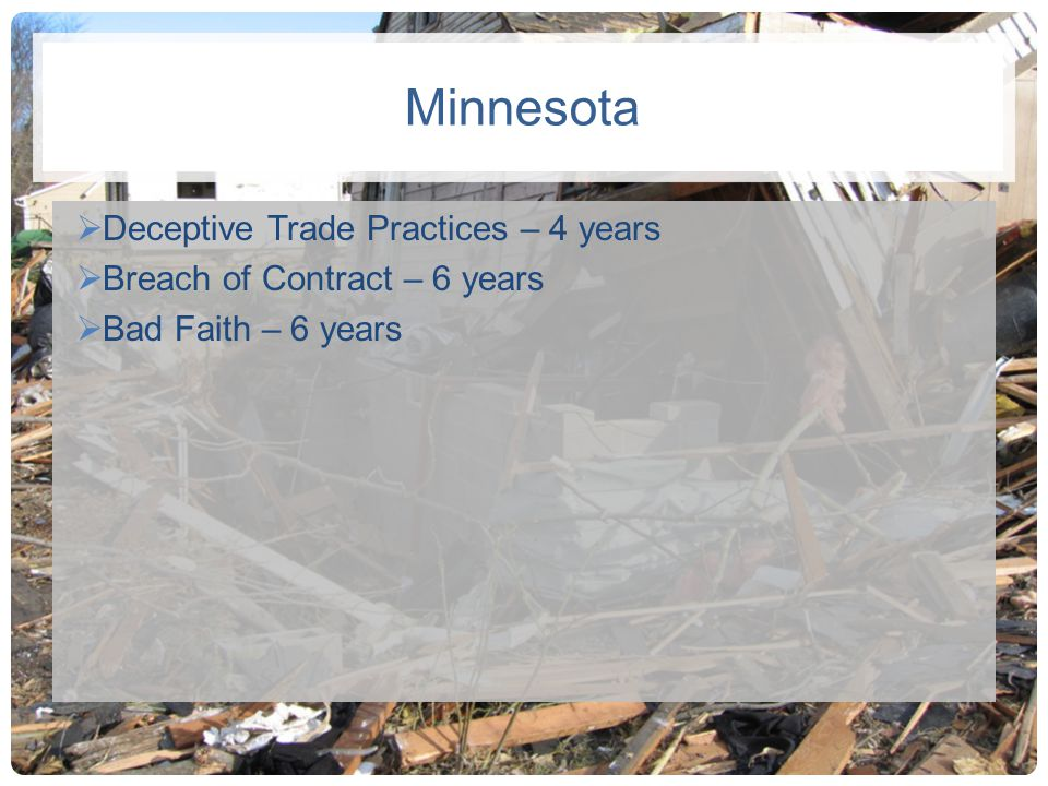 Minnesota Deceptive Trade Practices – 4 years