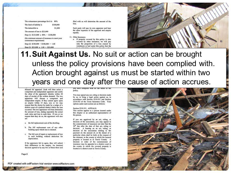 Suit Against Us.