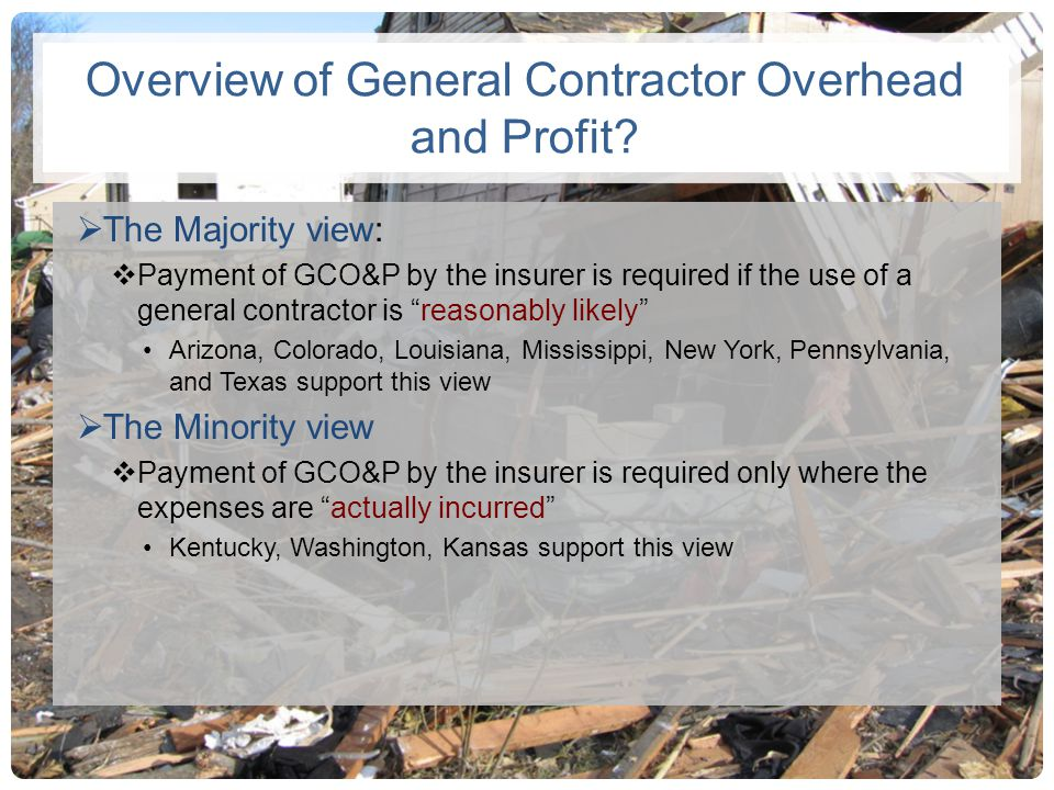 Overview of General Contractor Overhead and Profit