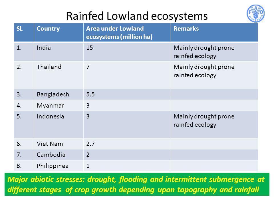 Rainfed Lowland ecosystems
