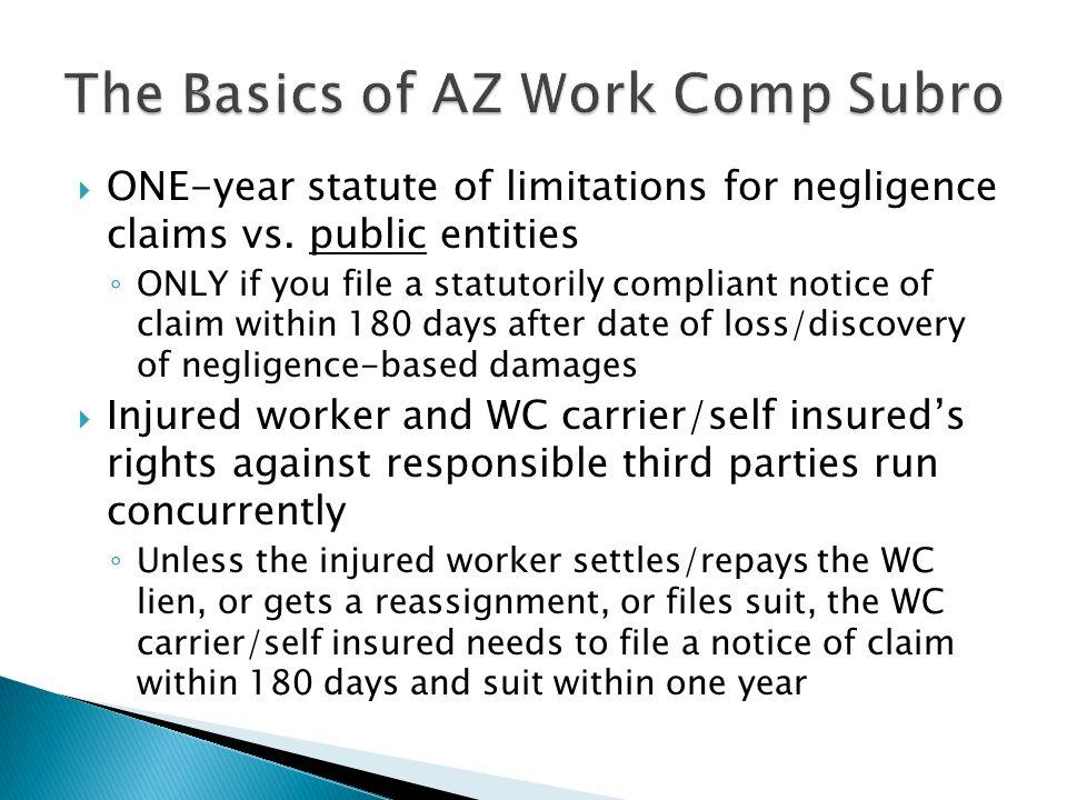 The Basics of AZ Work Comp Subro
