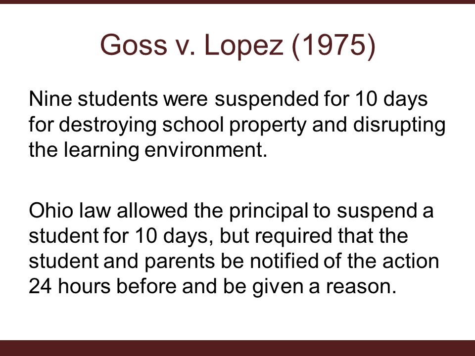 Goss v. Lopez (1975)