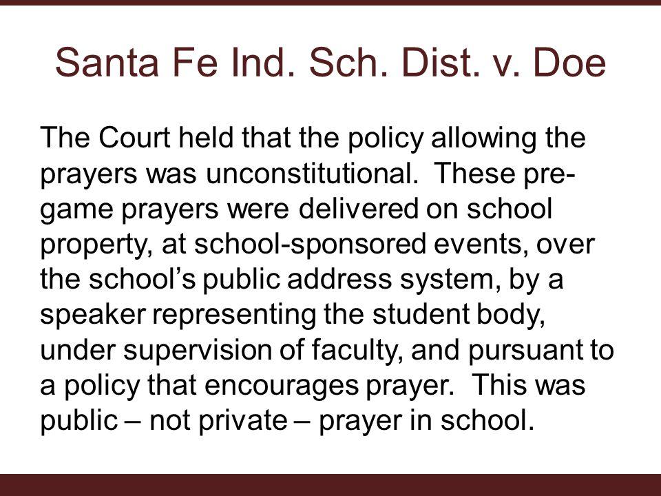Santa Fe Ind. Sch. Dist. v. Doe