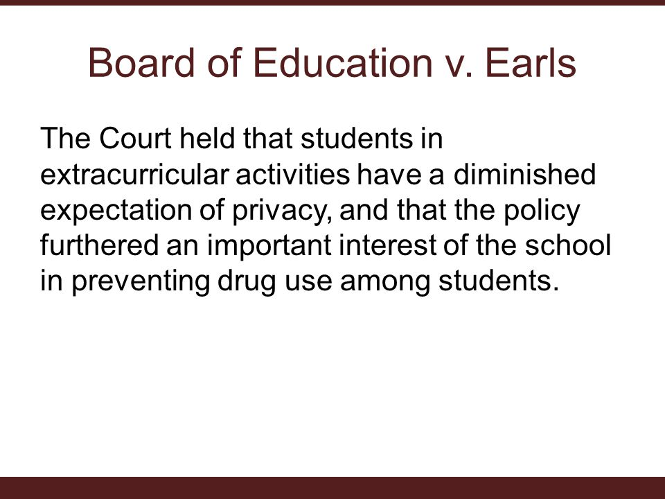 Board of Education v. Earls