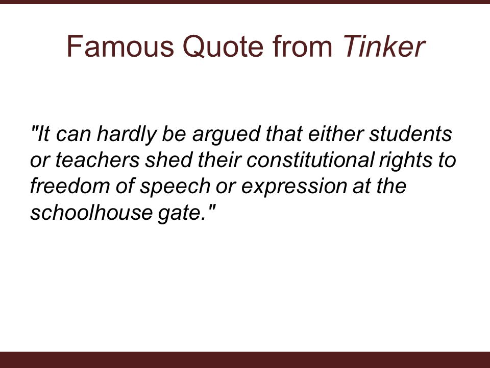 Famous Quote from Tinker