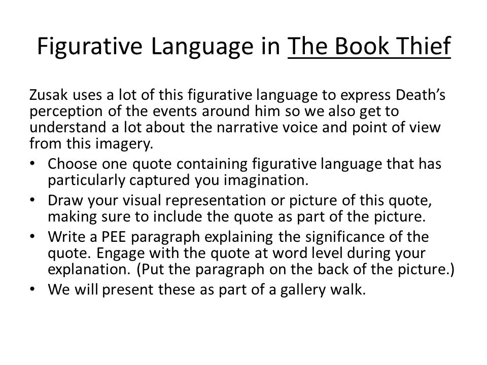 Figurative Language in The Book Thief
