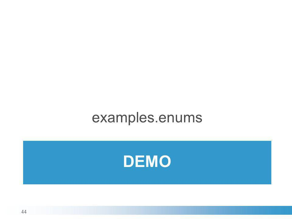 examples.enums demo