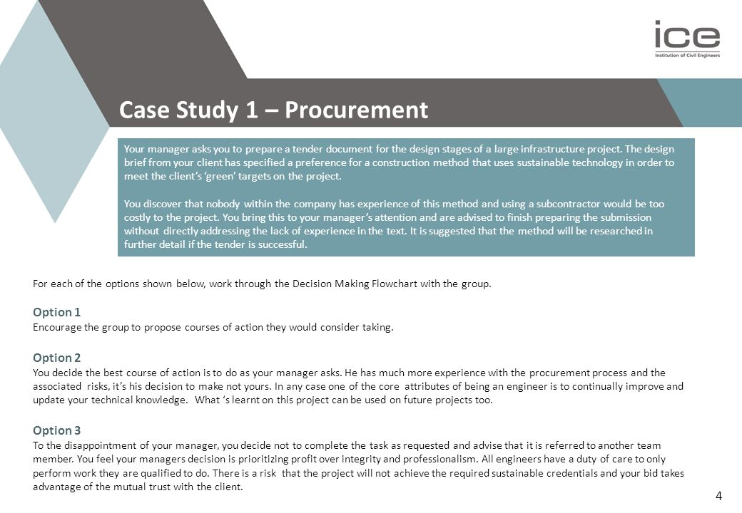 Case Study 1 – Procurement