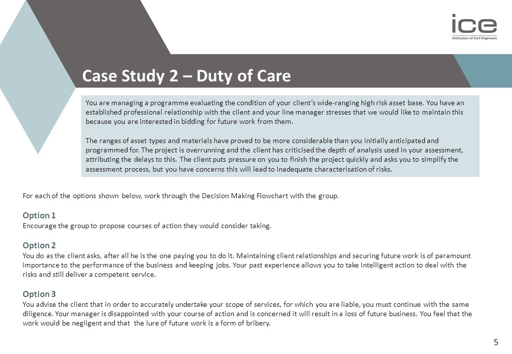 Case Study 2 – Duty of Care
