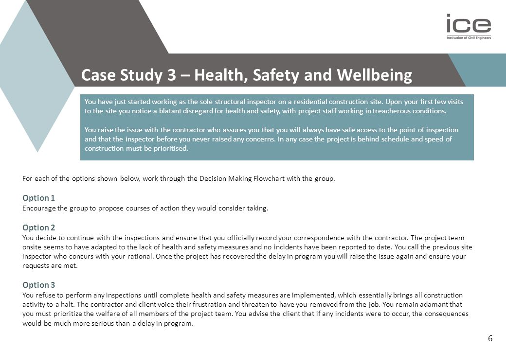 Case Study 3 – Health, Safety and Wellbeing