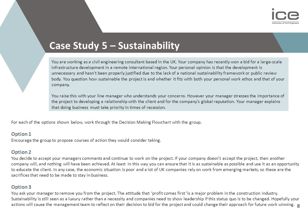 Case Study 5 – Sustainability