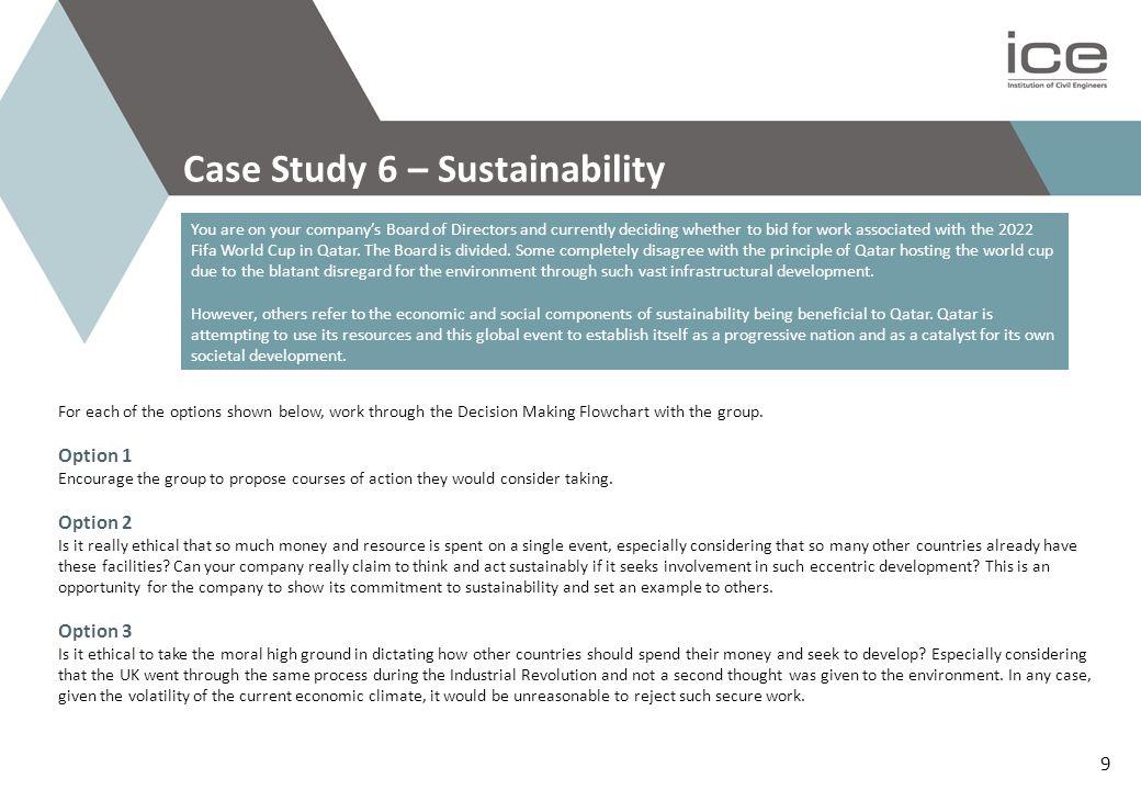 Case Study 6 – Sustainability