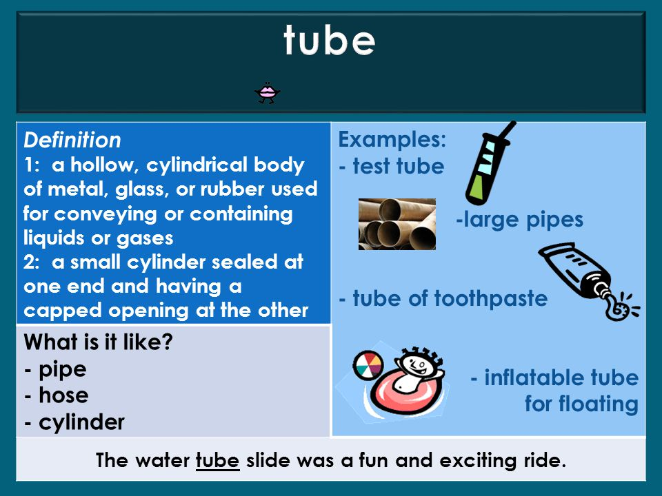 The water tube slide was a fun and exciting ride.