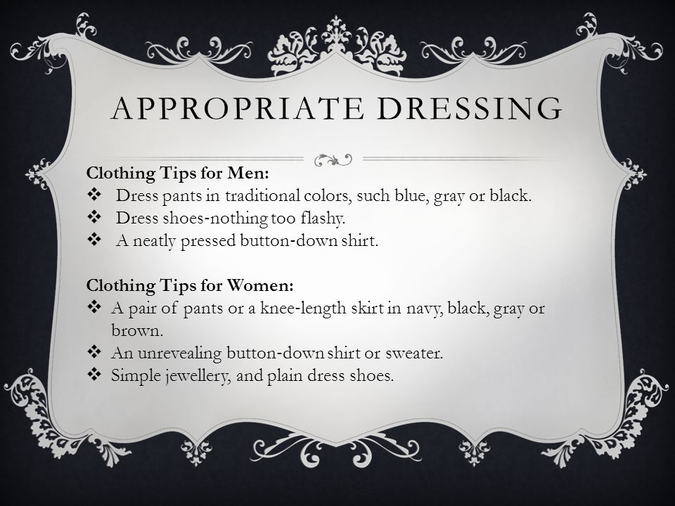 Appropriate Dressing Clothing Tips for Men: