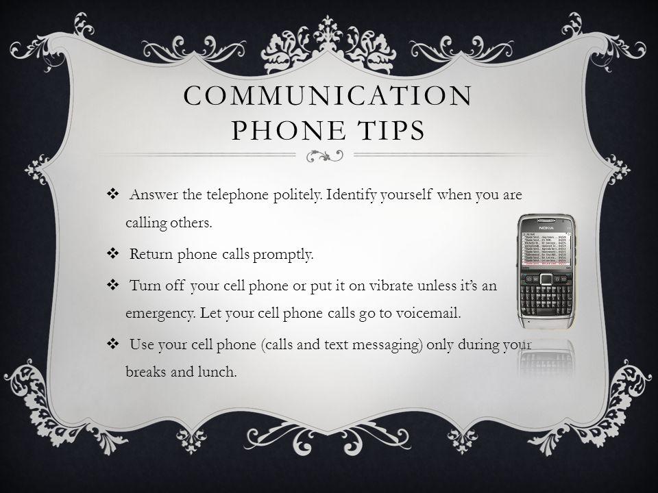 Communication Phone Tips