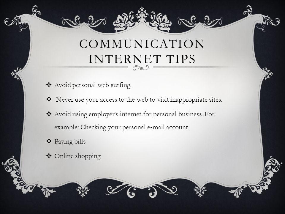 Communication Internet Tips