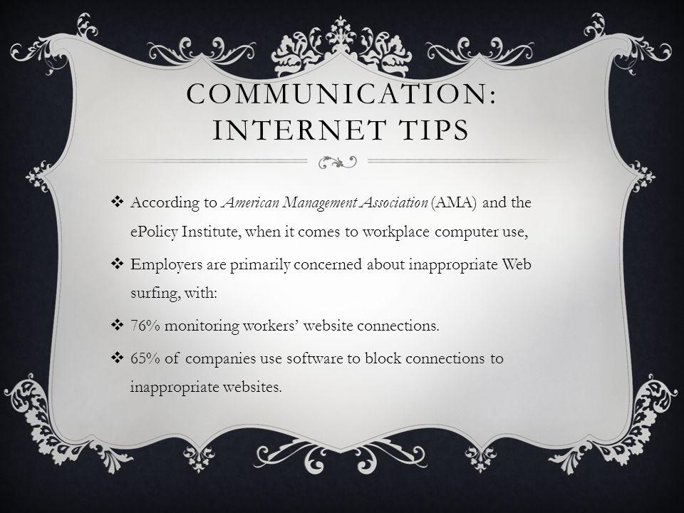 Communication: Internet Tips