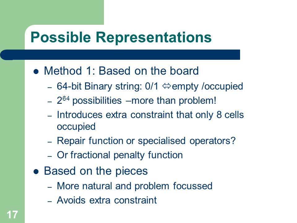 Possible Representations