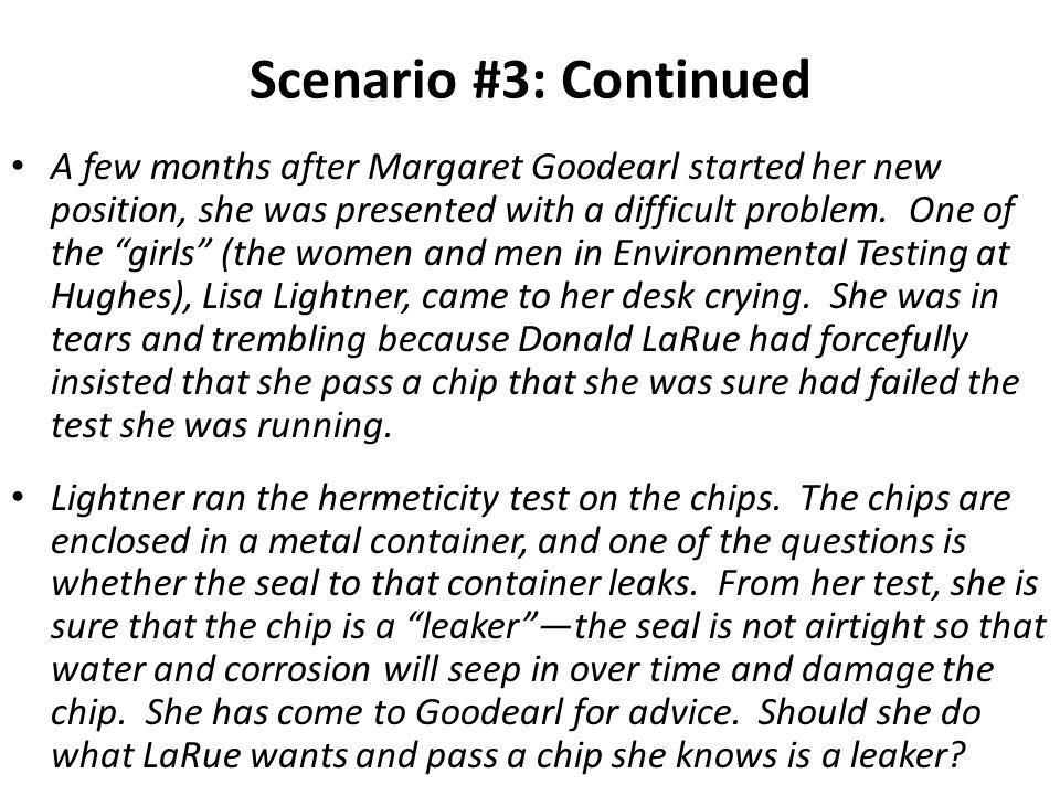 Scenario #3: Continued