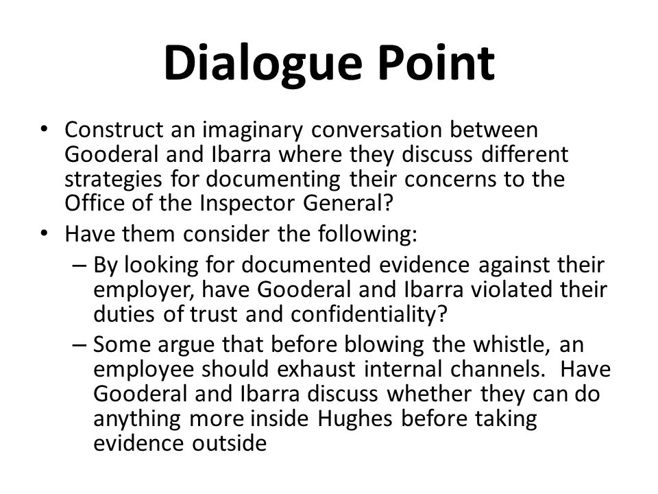 Dialogue Point